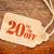 twenty percent off discount   paper price tag stock photo © pixelsaway
