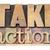take action in wood type stock photo © pixelsaway