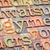 alphabet abstract in wood type stock photo © pixelsaway