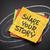 öykü · yapışkan · not · yazılı · sarı · mantar - stok fotoğraf © pixelsaway