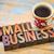 small business in letterpress wood type stock photo © pixelsaway