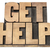 get help in wood type stock photo © pixelsaway