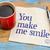 you make me smile on napkin stock photo © pixelsaway