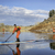 stand up paddling workout in colorado stock photo © pixelsaway