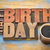 happy birthday greeting card in wood type stock photo © pixelsaway