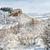 friss · hó · hegyek · fedett · por · égbolt - stock fotó © pixelsaway