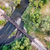 railroad tracks and river aerial view stock photo © pixelsaway