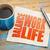 life work balance concept on napkin stock photo © pixelsaway