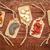 noten · abstract · schelpen · rustiek · houten - stockfoto © pixelsaway