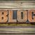 blog · palavra · velho · impressão · blocos - foto stock © pixelsaway