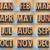 12 months in vintage letterpress wood type stock photo © pixelsaway