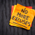 no more excuses   sticky note reminder stock photo © pixelsaway