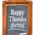happy thanksgiving on blackboard stock photo © pixelsaway