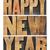 happy · new · year · ahşap · tip · metin · bağbozumu - stok fotoğraf © pixelsaway