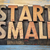 start small banner in wood type stock photo © pixelsaway