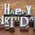 happy birthday in metal type stock photo © pixelsaway