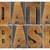 banco · de · dados · palavra · madeira · tipo · laptop · tela - foto stock © pixelsaway