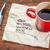 никогда · поздно · напоминание · салфетку · Кубок - Сток-фото © pixelsaway