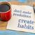 motivacional · conselho · guardanapo · copo · café · motivação - foto stock © pixelsaway
