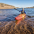 rio · caiaque · lago · senior · masculino · colorido - foto stock © pixelsaway