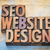 seo and website design word abstract in wood type stock photo © pixelsaway