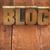 blog · palavra · madeira · tipo · manchado - foto stock © pixelsaway