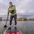 stand up paddling on a lake stock photo © pixelsaway