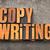 copywriting word in letterpress wood type stock photo © pixelsaway