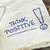 think positive on a napkin stock photo © pixelsaway