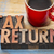tax return word abstract in wood type stock photo © pixelsaway