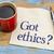 got ethics question on napkin stock photo © pixelsaway