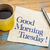 buongiorno · messaggio · caffè · carta · legno · bere - foto d'archivio © pixelsaway