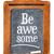 be awesome reminder on blackboard stock photo © pixelsaway