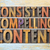 consistent compelling content word abstract stock photo © pixelsaway
