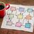 diagrama · servilleta · taza · café · papel · madera - foto stock © pixelsaway