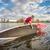 launching stand up paddleboard on lake stock photo © pixelsaway