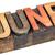 june month in wood type stock photo © pixelsaway