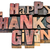 happy thanksgiving sign in wood type stock photo © pixelsaway