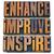 enhance improve inspire in wood type stock photo © pixelsaway