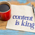 content is king on napkin stock photo © pixelsaway