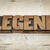 legend word in wood type stock photo © pixelsaway