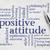 positive attitude word cloud stock photo © pixelsaway