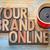 your brand online in wood type stock photo © pixelsaway