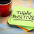 think positive note with coffee stock photo © pixelsaway