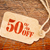 fifty percent off discount   paper price tag stock photo © pixelsaway