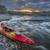 whitewater kayak at sunset stock photo © pixelsaway