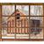 old rustic barn window view stock photo © pixelsaway
