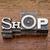 shop word in metal type stock photo © pixelsaway