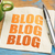 blogging concept on a napkin stock photo © pixelsaway