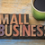 small business banner in wood type stock photo © pixelsaway